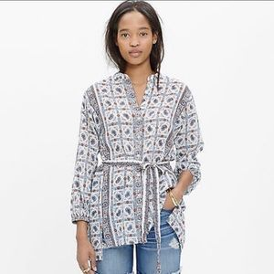 NWOT M'well Silk/Cotton Printed Tunic